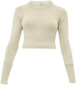 Cropped Cashmere Sweater - Womens - Beige
