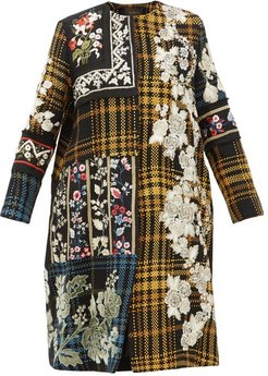Holia Floral Embroidered Cotton Coat - Womens - Multi