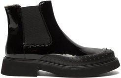 Rubber-toe Patent-leather Chelsea Boots - Womens - Black