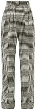 Francis Prince Of Wales Wool Blend Trousers - Womens - Black White