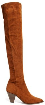Shoreditch 70 Over The Knee Suede Boots - Womens - Tan