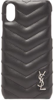 Lou Quilted-leather Iphone® Xs Phone Case - Womens - Black