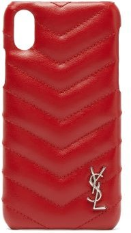 Lou Quilted-leather Iphone® Xs Phone Case - Womens - Red