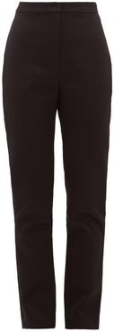 Tailored Cotton-sateen Trousers - Womens - Black