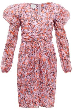 Floral-print Silk-georgette Dress - Womens - Pink Multi