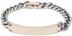 Brushed Gold And Sterling Silver Bracelet - Womens - Silver Gold