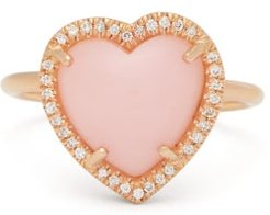 Love Diamond, Opal And 18kt Rose-gold Ring - Womens - Rose Gold