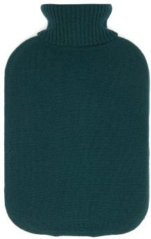 Cashmere Cover Hot Water Bottle - Womens - Light Blue