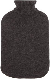 Cashmere Cover Hot Water Bottle - Womens - Grey Multi