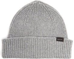 Ribbed Cashmere-blend Beanie Hat - Mens - Grey