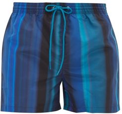 Gradient Stripe Swim Shorts - Mens - Blue Multi