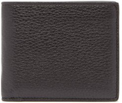 Four-stitch Grained-leather Bi-fold Wallet - Mens - Black