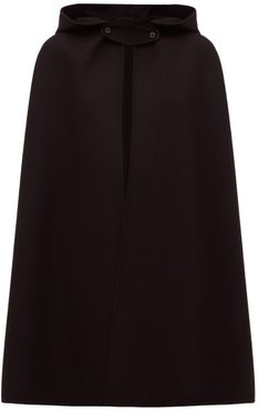 Hooded Cashmere Cape - Womens - Black