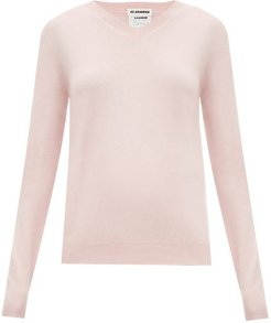 V-neck Cashmere Sweater - Womens - Pink