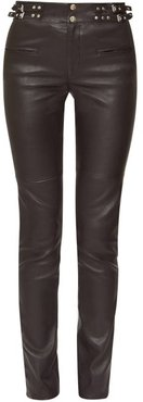 Jeydie Leather Trousers - Womens - Black