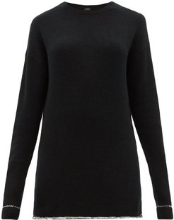 Oversized Cashmere Sweater - Womens - Black