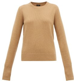 Ribbed-edge Cashmere Sweater - Womens - Camel