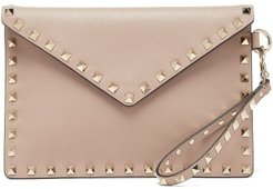 Rockstud Leather Pouch - Womens - Nude