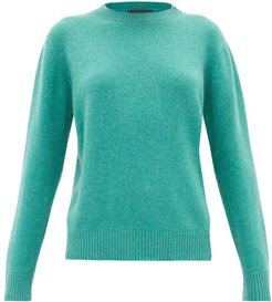 Simple Round-neck Cashmere Sweater - Womens - Green