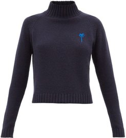 Highland Cropped Cashmere Sweater - Womens - Blue