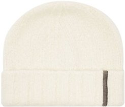 Beaded Cashmere-blend Beanie Hat - Womens - White