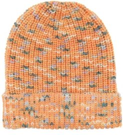 Variegated Brioche-knitted Wool Hat - Womens - Pink Multi