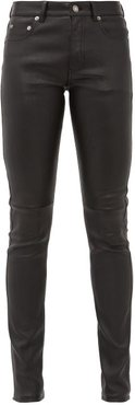 Slim-fit Leather Trousers - Womens - Black