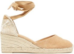 Carina 60 Canvas And Jute Espadrille Wedges - Womens - Light Tan