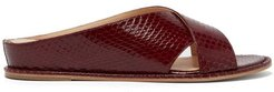 Ellington Elaphe Slides - Womens - Burgundy