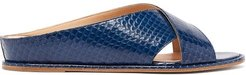 Ellington Elaphe Slides - Womens - Dark Blue