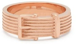 Buckle Rose Gold Ring - Womens - Rose Gold