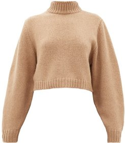 Tabeth Cropped Cashmere Sweater - Womens - Light Brown