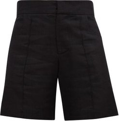 High-rise Tailored Shorts - Womens - Black