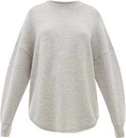 No. 53 Crew Hop Oversized Stretch-cashmere Sweater - Womens - Grey