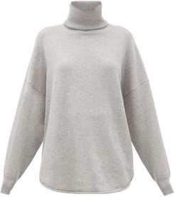 No. 52 Roll Stretch-cashmere Sweater - Womens - Grey