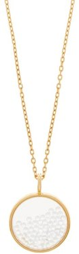 Chivor Mini 18kt Gold & Diamond Medallion Necklace - Womens - Yellow Gold