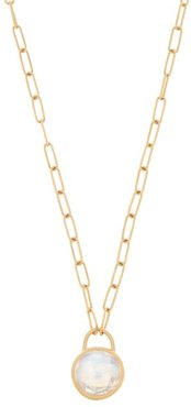 Moonstone & 22kt Gold Necklace - Womens - Gold