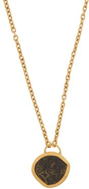Ancient Coin & 22kt Gold Necklace - Womens - Gold
