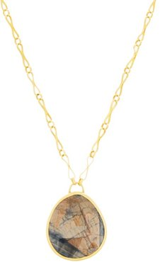 Sapphire & 22kt Gold Necklace - Womens - Gold