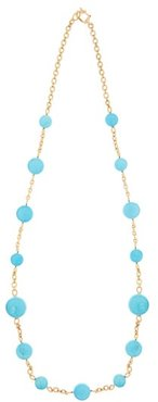 Turquoise & 18kt Gold Necklace - Womens - Yellow Gold