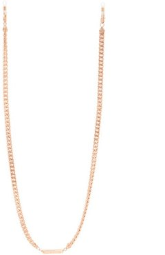 Diamond Geezer Gold Plated Glasses Chain - Womens - Pink