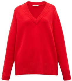No.124 Vital Stretch-cashmere Sweater - Womens - Red