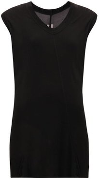 V-neck Gauze Top - Womens - Black