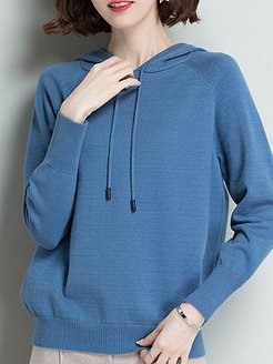 Hat Collar Casual Plain Long Sleeve Knit Pullover shop, online, turtleneck sweater, knit sweater