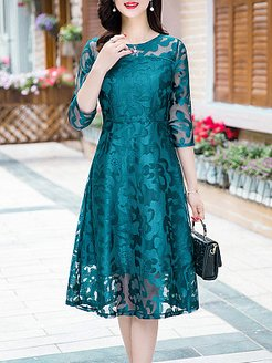 Round Neck Lace Maxi Dress clothing stores, fashion store, Fitted Maxi Dresses, petite maxi dresses, long red dress