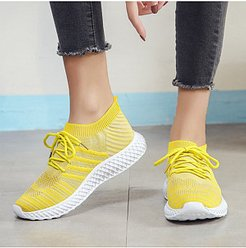 Casual Solid Color Breathable Sneakers cheap online stores, clothing stores, Solid Sneakers,
