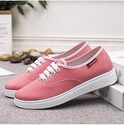 Casual Solid Color Flat Canvas Sneakers shoppers stop, fashion store, Solid Sneakers,