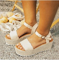 Solid Color Simple Fashion Wedge Sandals online sale, shoppers stop,
