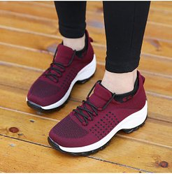 Round Toe Casual Travel Sneakers clothes shopping near me, fashion store,