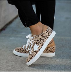 Fashion Animal Pattern Star Lace-up Sneakers cheap online shopping sites, cheap online stores, Animal Sneakers,